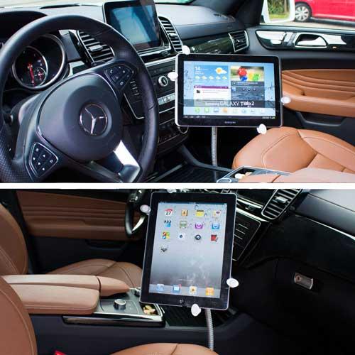Schwanenhals Tablet Autohalterung 10